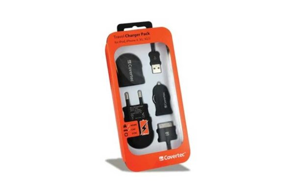 Covertec Travel PowerPack (2.1 Ampere) mit Netzteil, schwarz