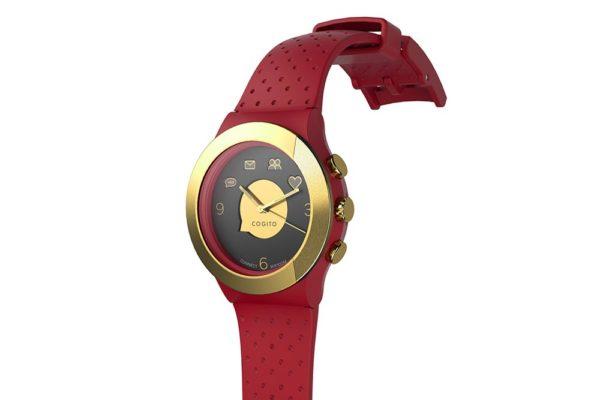 Cogito-Fit-Clevere-wasserdichte-Bluetooth-4.0-SmartWatch-Benachrichtungen-iPhone-Finder-Fernbedienungsfunktionen-Smartphones-Rot-Gold-2