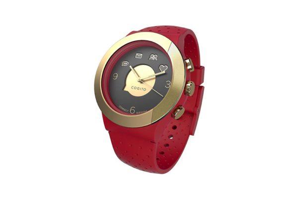 Cogito-Fit-Clevere-wasserdichte-Bluetooth-4.0-SmartWatch-Benachrichtungen-iPhone-Finder-Fernbedienungsfunktionen-Smartphones-Rot-Gold