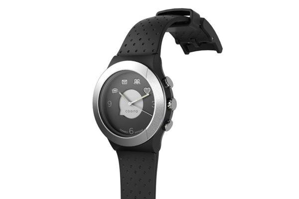 Cogito-Fit-Clevere-wasserdichte-Bluetooth-4.0-SmartWatch-Benachrichtungen-iPhone-Finder-Fernbedienungsfunktionen-Smartphones-Schwarz-Silber-2