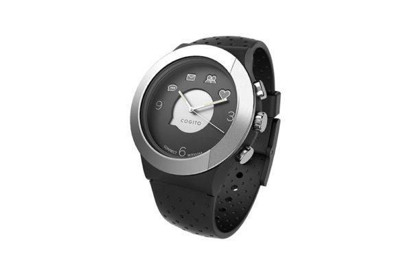 Cogito-Fit-Clevere-wasserdichte-Bluetooth-4.0-SmartWatch-Benachrichtungen-iPhone-Finder-Fernbedienungsfunktionen-Smartphones-Schwarz-Silber
