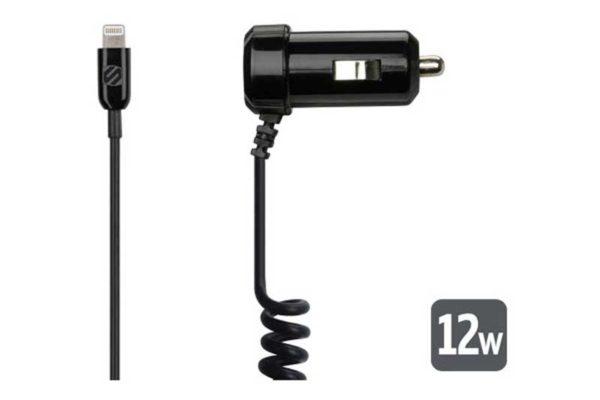 Scosche reVAMP Car II Autoladegerät (2.4 Ampere) mit Lightning Kabel, schwarz