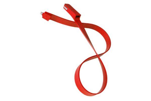 TYLT BAND Car Charger für iPhones und iPads mit Lightning-Anschluss, rot