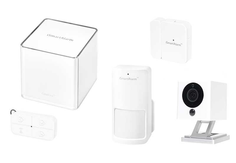 ismartalarm home security system essential pack 1x cube 1x motion sensor 1x contact sensor. Black Bedroom Furniture Sets. Home Design Ideas