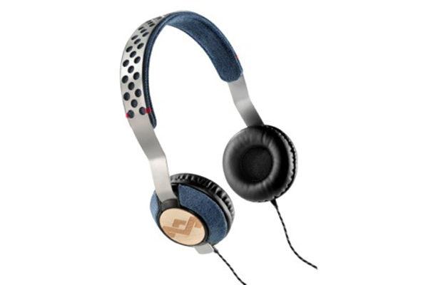 Marley Liberate On-Ear Kopfhörer mit 3-Button Remote/Mic, Denim – REFURBISHED