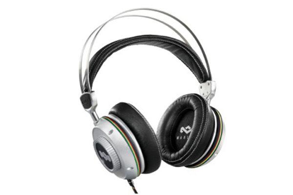 Marley Destiny TTR Rock Over-Ear Kopfhörer mit Active Noise-Cancelling & 3-Button Remote/Mic, Destiny Silver