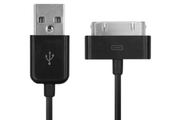 USB Kabel für iPhone 3/4/4S/iPad 1/iPad 2/iPad 3 - 1m, schwarz
