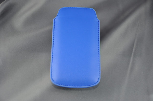 Bridge94 iPhone 5/5S/5C/SE PU-Leder Pull-Tab, blau