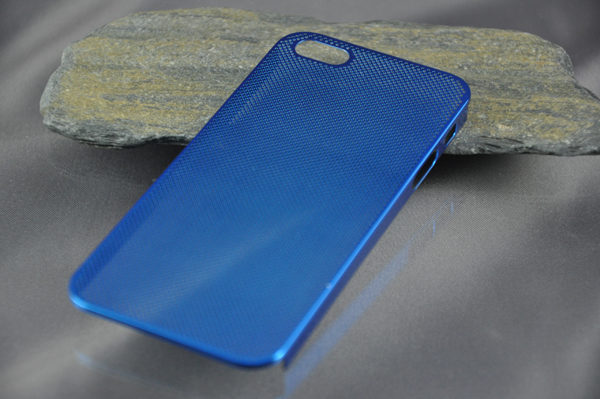 iPhone 5/5S/SE Alucase gelocht, blau