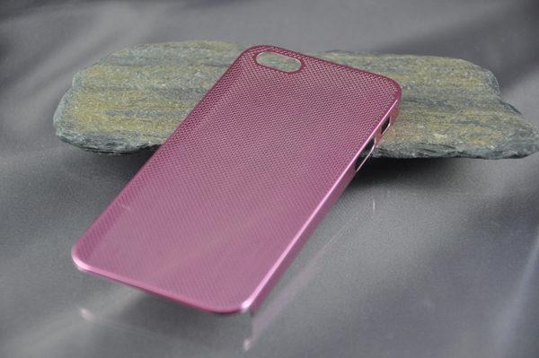 iPhone 5/5S/SE Alucase gelocht, pink