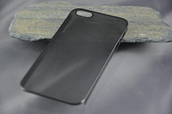iPhone 5/5S/SE Alucase gelocht, schwarz