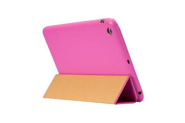 Jisoncase iPad Mini / Mini 2 Leder-Case, pink