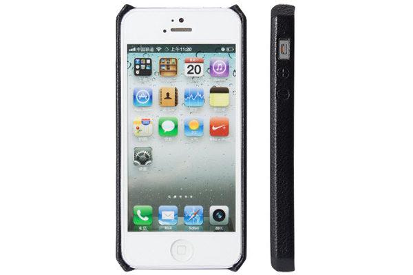 Jisoncase iPhone 5/5S/SE Wallet Classic-Case, schwarz
