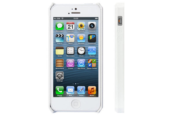 Jisoncase iPhone 5/5S/SE Wallet Classic-Case, weiss