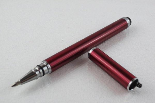 2 in 1 Stylus Pen + Roller Pen, rot