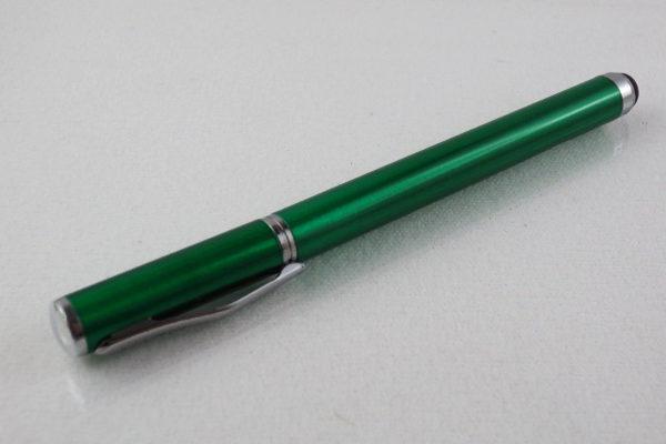 2 in 1 Stylus Pen + Roller Pen, dunkelgrün