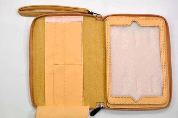 iPad Mini / Mini 2 Tasche mit Kreditkarten-Fächern, hellbraun