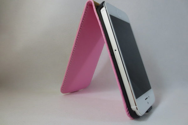 iPhone 5/5S/SE PU-Flip-Leder-Case, rosa