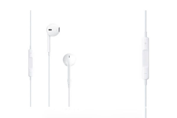 In-Ear Kopfhörer mit Mikrofon, weiss