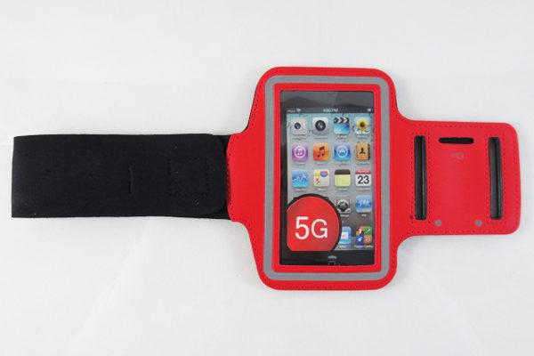 iPhone 5/5S/SE/5C Sportarmband, rot