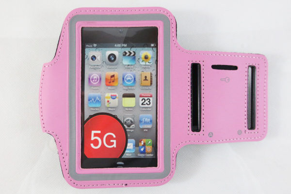 iPhone 5/5S/SE/5C Sportarmband, rosa