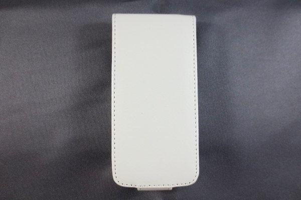 iPhone 5/5S/SE PU-Flip-Leder-Case, weiss