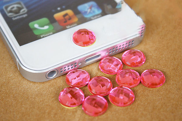iPhone/iPad Home-Button Kristall, rosa