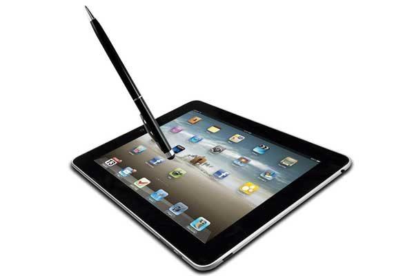 iPad/iPhone 2-in-1 Stylus-Pen, schwarz