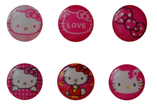 iPhone/iPad Home-Button Sticker, 6 Stück - Hello Kitty