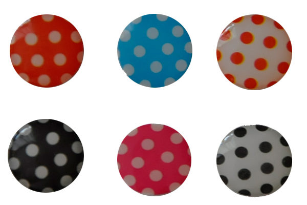 iPhone/iPad Home-Button Sticker, 6 Stück - Gepunktet