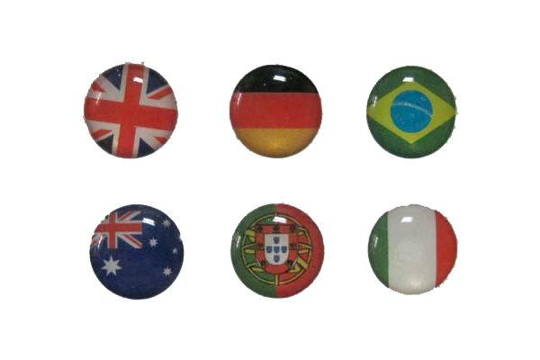 iPhone/iPad Home-Button Sticker, 6 Stück - Länder-Flaggen