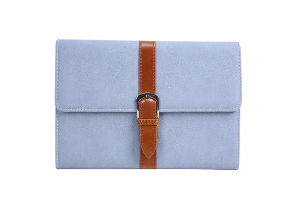 iPad Mini / Mini 2 PU Leder Etui mit Schnalle, grau