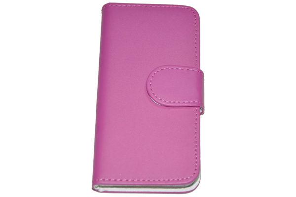 iPhone 5/5S/SE PU-Leder-Case, dunkelrosa