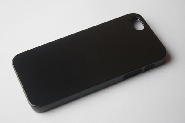 iPhone 5/5S/SE Back-Cover neutral, schwarz