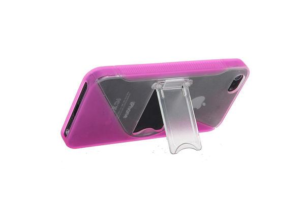 iPhone 5/5S/SE Silikon-Back-Cover mit Ständer, pink