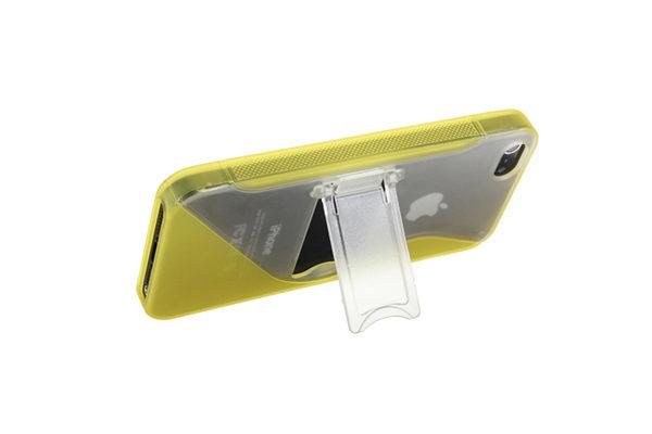 iPhone 5/5S/SE Silikon-Back-Cover mit Ständer, gelb