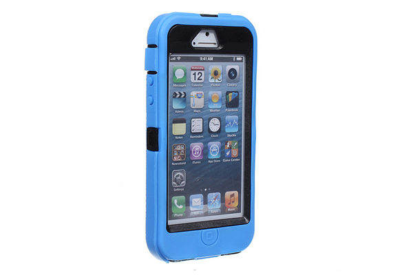 iPhone 5/5S/SE Schutzetui, blau