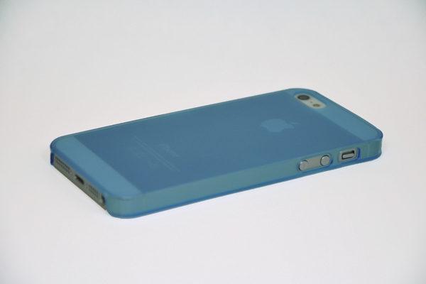 iPhone 5/5S/SE Hard-Back-Cover Air Jacket, transparent hellblau matt