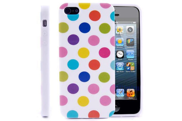 iPhone 5/5S/SE TPU-Back-Cover, farbige Punkte