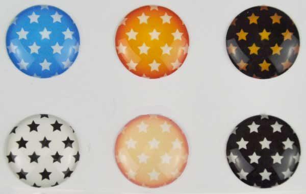 iPhone/iPad Home-Button Sticker, 6 Stück - Sternchen