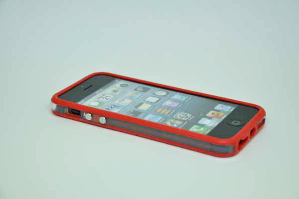 iPhone 5/5S/SE Bumper, rot