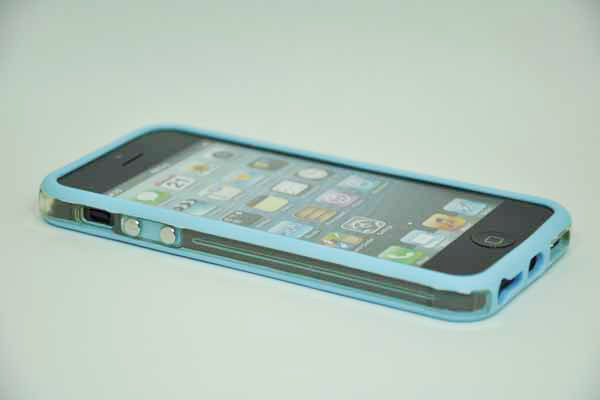 iPhone 5/5S/SE Bumper, hellblau
