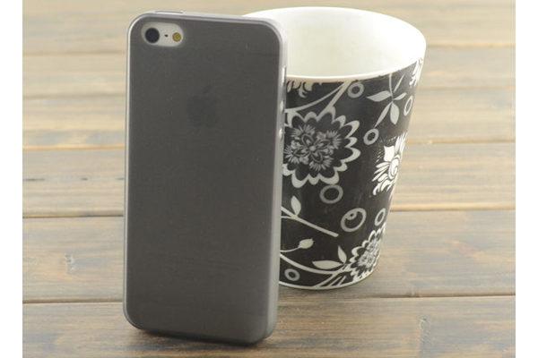 iPhone 5/5S/SE Ultra Thin Back-Cover, grau-transparent