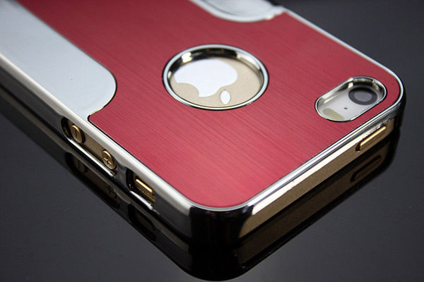 iPhone 5/5S/SE Aluminium Back-Cover, rot