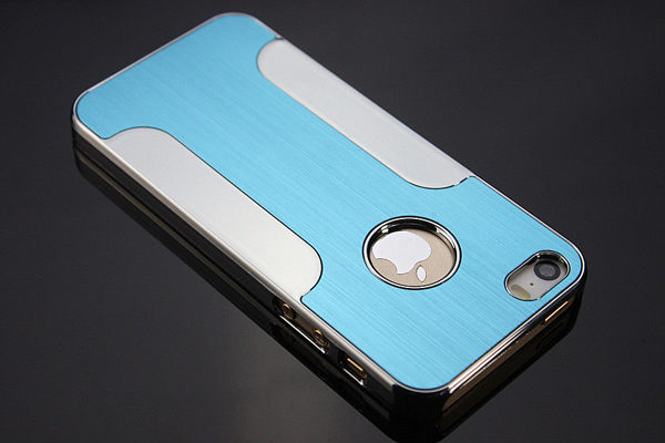 iPhone 5/5S/SE Aluminium Back-Cover, hellblau