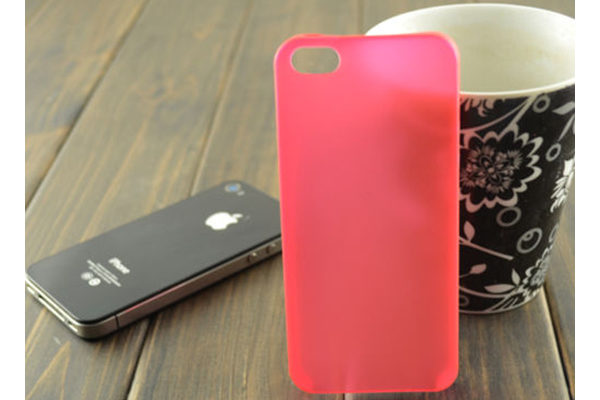 iPhone 5/5S/SE Ultra Thin Back-Cover, rot-transparent