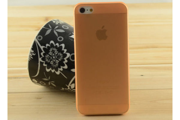 iPhone 5/5S/SE Ultra Thin Back-Cover, orange-transparent