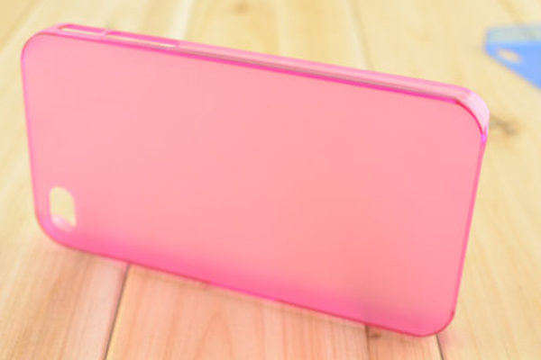 iPhone 5/5S/SE Ultra Thin Back-Cover, pink-transparent
