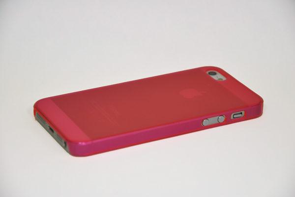 iPhone 5/5S/SE Hard-Back-Cover Air Jacket, transparent hellrot matt