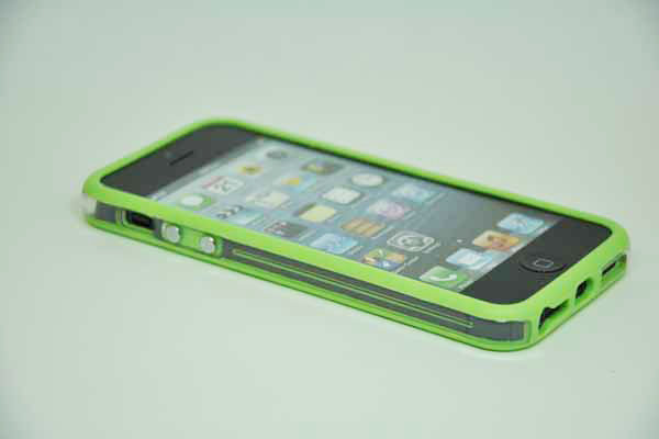 iPhone 5/5S/SE Bumper, hellgrün